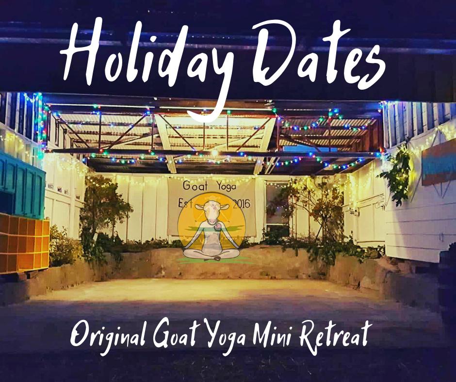 Holiday Goat Yoga Events